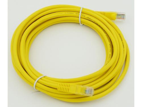 Кабель (шнур) cat5E (5м), желтый, вид 1