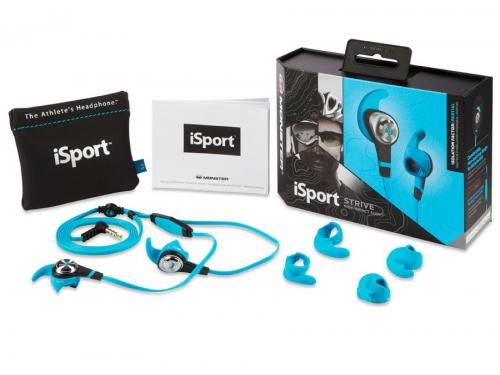 Гарнитура для телефона Monster iSport Strive UCT3, голубая, вид 6