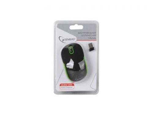 Мышка Gembird MUSW-200 Black-Green USB, черно-зеленая, вид 2