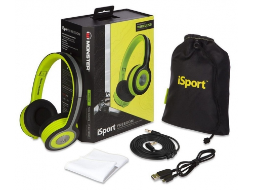 Гарнитура для пк Monster iSport Freedom Bluetooth On-Ear, зелёная, вид 3