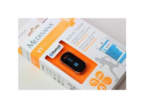 Фитнес-браслет Medisana ViFit Connect, черный/оранжевый, вид 3