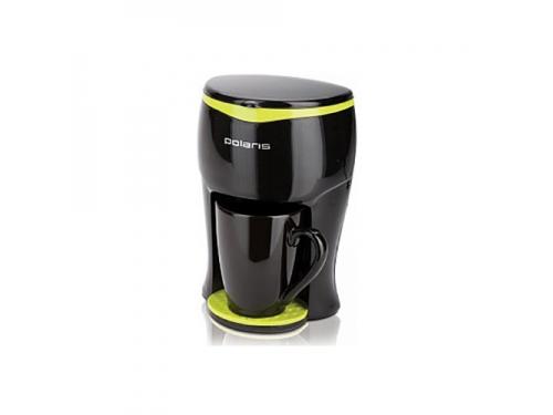 Кофемашина Polaris PCM0109 350Вт, черный/салатовый, вид 1