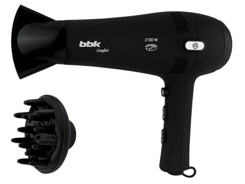 Фен / прибор для укладки BBK BHD3210i, черный, вид 1