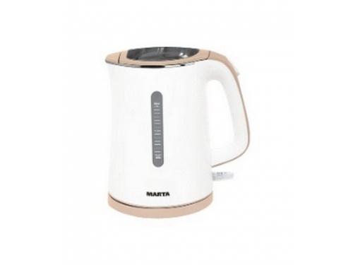 Чайник электрический Marta MT-1065, белый/бежевый, вид 1