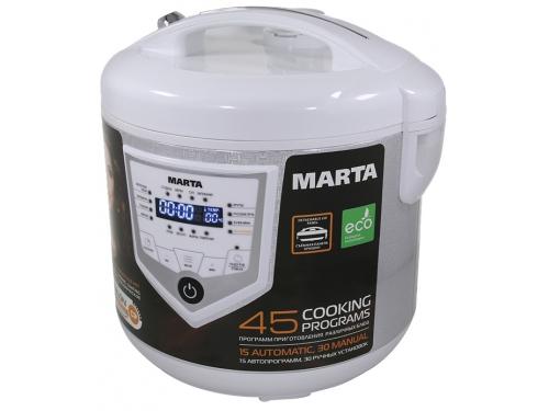 Мультиварка Marta MT-4308, белая/сталь, вид 1
