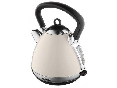 Чайник электрический BBK EK1710S, бежевый/серебро, вид 1