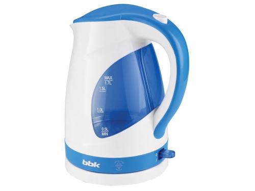 Чайник электрический BBK EK1700P белый/голубой, вид 1