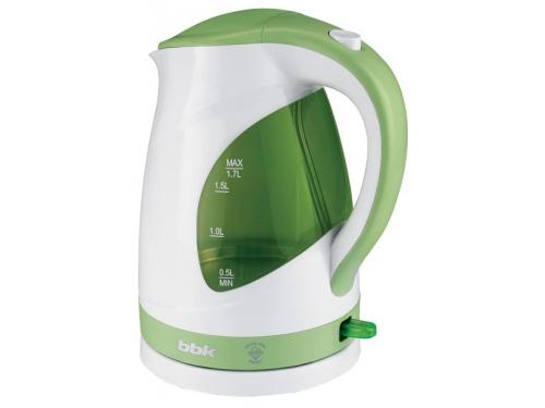 Чайник электрический BBK EK1700P белый/зеленый, вид 1