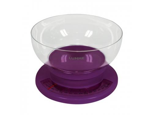Кухонные весы Lumme LU-1303, фиолетовый чароит, вид 1