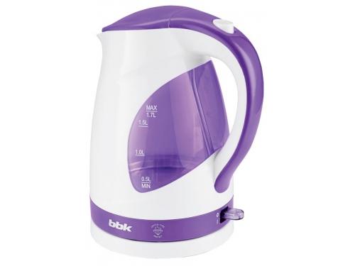 Чайник электрический BBK EK1700P белый/фиолетовый, вид 1