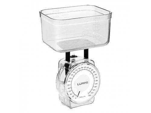 Кухонные весы Lumme LU-1301, белый жемчуг, вид 1