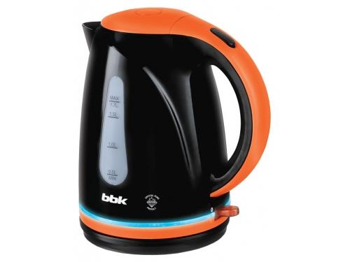 Чайник электрический BBK EK1701P, черный/оранжевый, вид 1