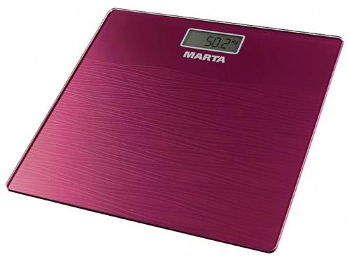 Напольные весы MARTA MT-1677 бургунди, вид 1