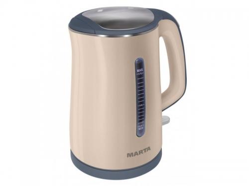 Чайник электрический Marta MT-1065, бежевый, вид 1