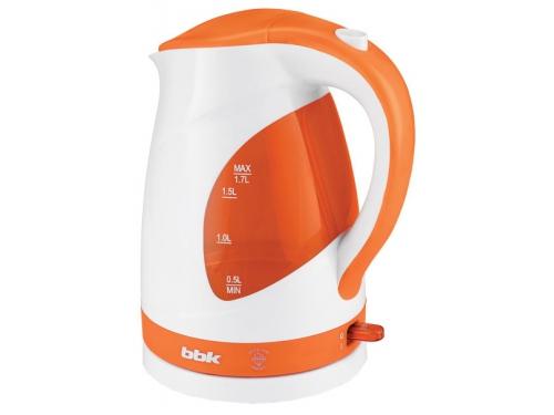 Чайник электрический BBK EK1700P белый/оранжевый, вид 1