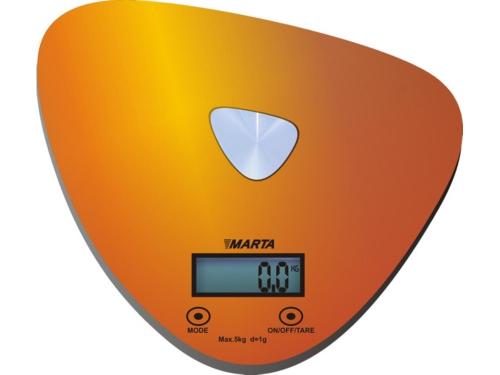 Кухонные весы Marta MT-1632, золотые/блестящие, вид 1