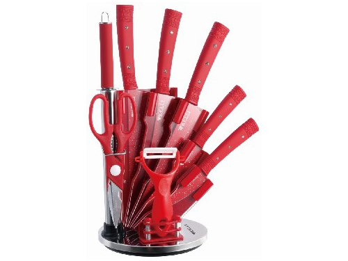 Набор кухонных ножей Kelli KL-2131 (9 предметов), вид 1