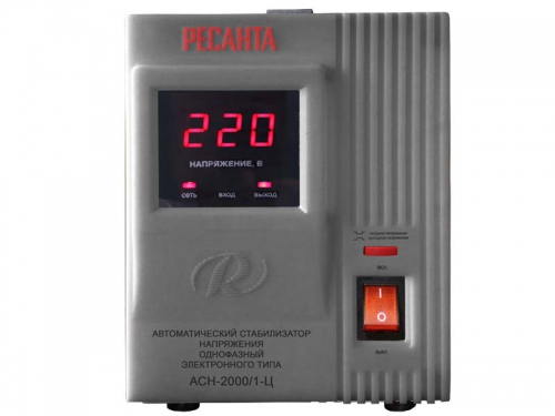 Стабилизатор напряжения РЕСАНТА АСН-2000/1-Ц, 2000 Вт, AVR, вид 1