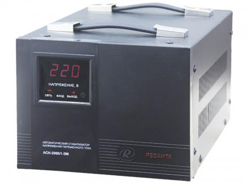 Стабилизатор напряжения РЕСАНТА АСН-2000/1-ЭМ, электромеханический, 2000 Вт, вид 1