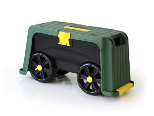 Садовое оборудование Helex, Ящик-подставка на колесах 4 в 1, зеленый/черный, вид 1