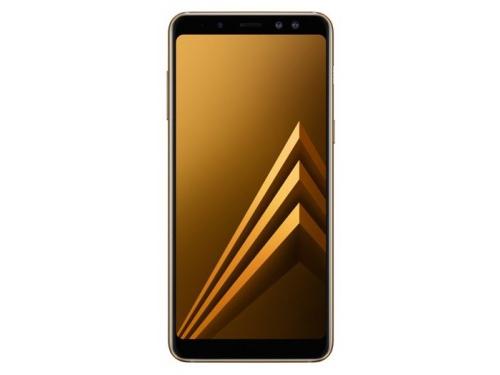 Смартфон Samsung Galaxy A8 (2018) SM-A530, золотистый, вид 1