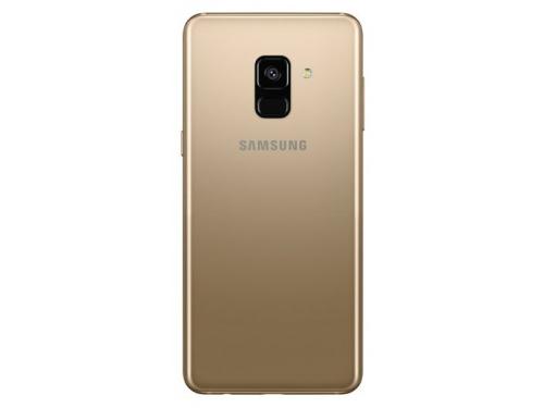Смартфон Samsung Galaxy A8 (2018) SM-A530, золотистый, вид 2