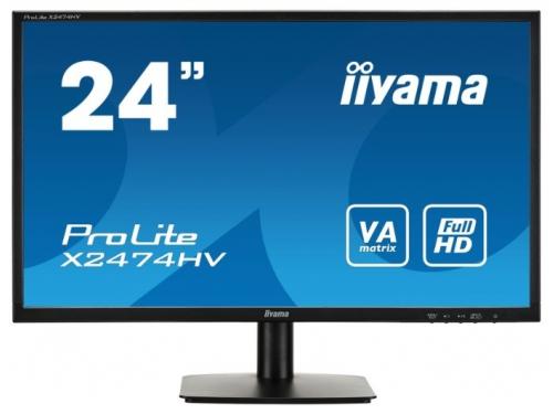 Монитор Iiyama X2474HV-B1, черный, вид 2