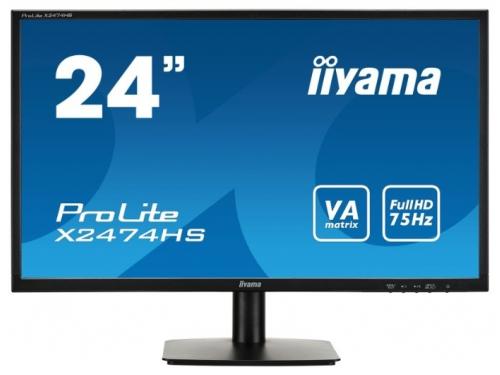 Монитор Iiyama X2474HS-B1, черный, вид 2