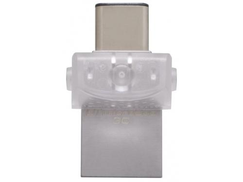 Usb-флешка Kingston DataTraveler microDuo 3C 128Gb, прозрачная, вид 1