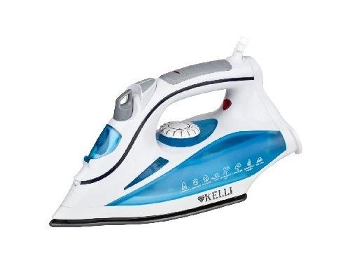 Утюг Kelli KL-1630, белый/голубой, вид 1