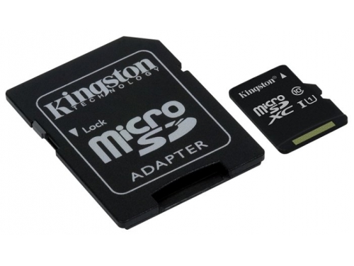 Карта памяти Kingston SDC10G2/256Gb (class10 UHS-I U1, с адаптером), вид 1
