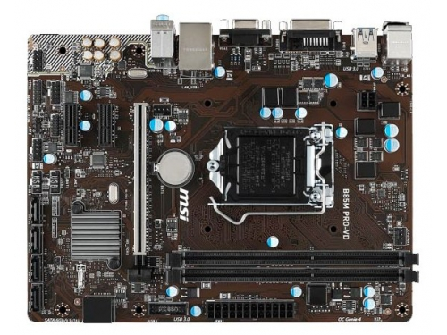 Материнская плата MSI B85M PRO-VD Soc-1150 B85 DDRIII mATX SATA3 LAN-Gbt VGA+DVI USB 3.0, вид 2