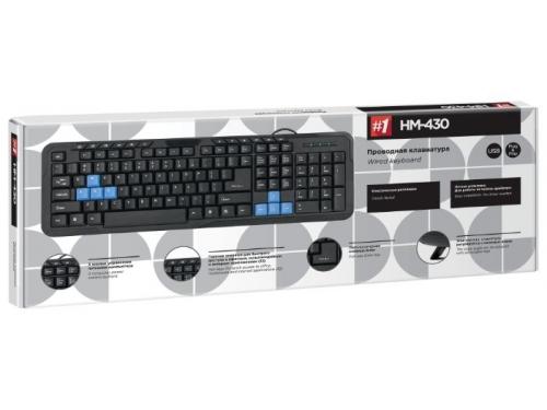 Клавиатура Defender HM-430 USB, черная, вид 2