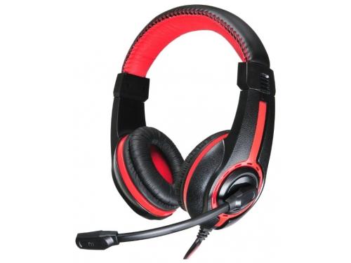 Гарнитура для ПК Oklick HS-L200, черно-красная, вид 2
