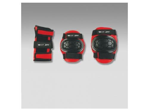 Защита роликовая MaxCity Match, р. M, черная / красная, вид 1