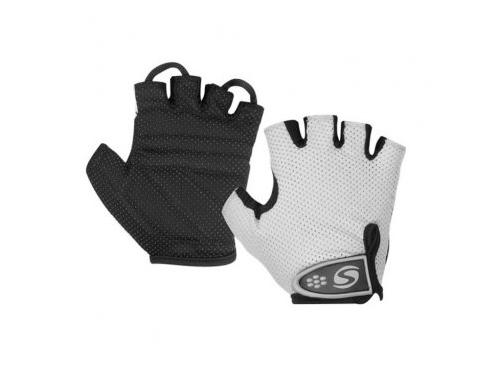 Велоперчатки Stels CG-1061 р. (M), белые / черные, вид 1