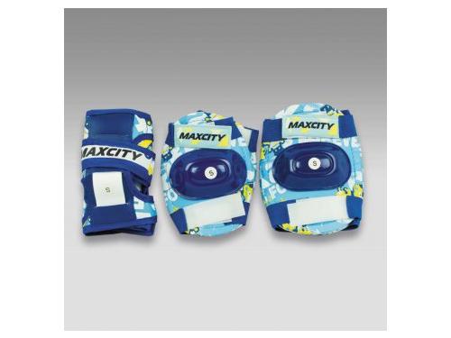 Защита роликовая MaxCity Teddy р. (S), синяя, вид 1