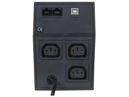 Источник бесперебойного питания Powercom RPT-600AP black, вид 3