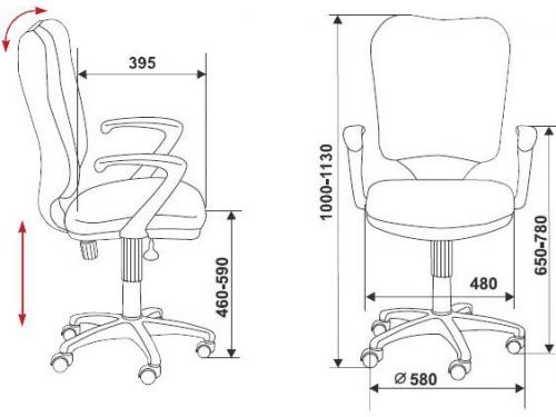 Компьютерное кресло Бюрократ CH-540AXSN/26-25 серое, вид 2