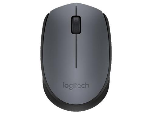 Мышь Logitech M171, беспроводная, USB, чёрная, вид 1