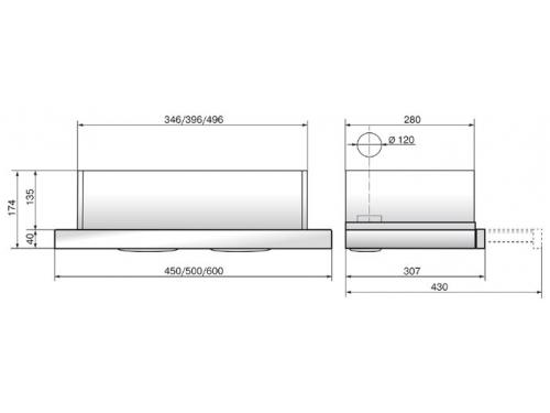 Вытяжка кухонная Elikor Интегра Glass 45Н-400-В2Г (нерж/стекло бежевое), вид 2