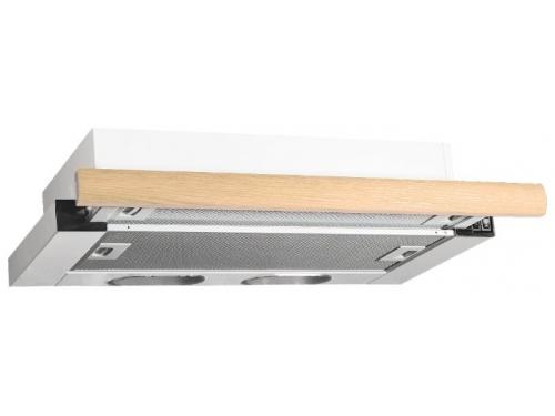 Вытяжка кухонная Elikor Выдвижной блок 2М 60 дуб неокрашенный (550), белая, вид 2