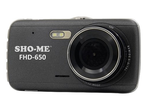 Автомобильный видеорегистратор Sho-Me FHD-650, черный, вид 2