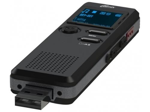 Диктофон Ritmix RR-610 8Gb, черный, вид 2
