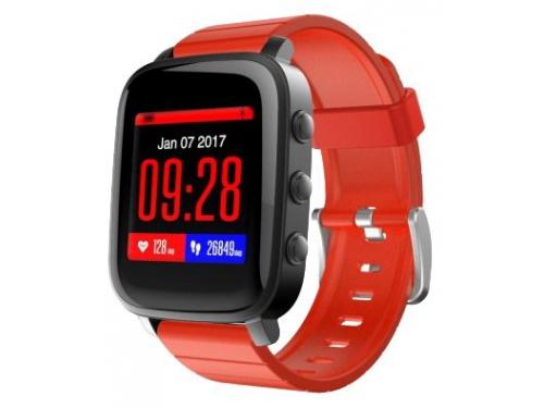 Умные часы SMA Time, черно-красные, вид 1
