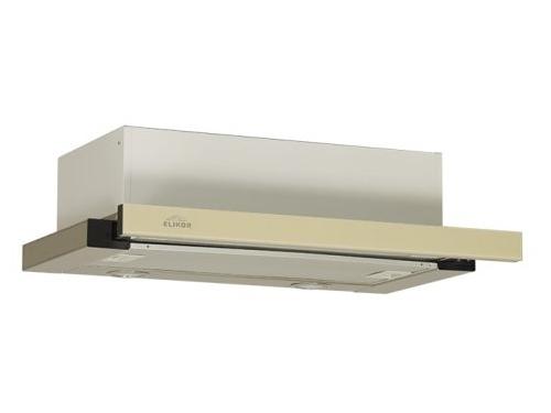 Вытяжка кухонная Elikor Интегра Glass 45Н-400-В2Г (нерж/стекло бежевое), вид 1