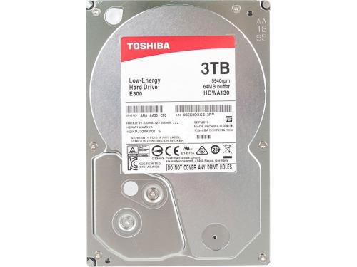 Жесткий диск Toshiba HDWA130UZSVA (E300, 3Tb, 3.5'', SATA3, 5940rpm), вид 2