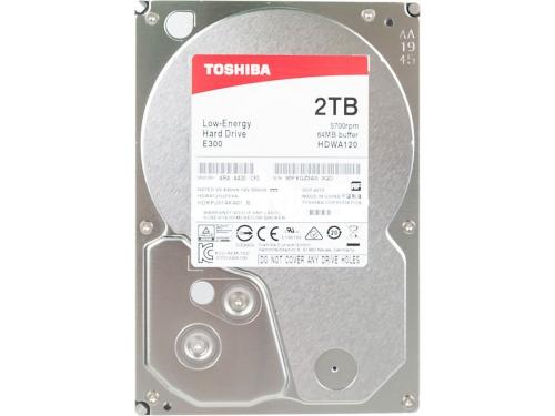 Жесткий диск Toshiba HDWA120UZSVA (E300, 2Tb, 3.5'', SATA3, 5700rpm), вид 2