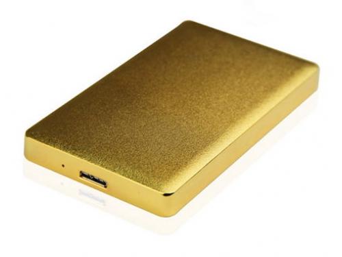 Корпус для жесткого диска AgeStar 31UB2A15 (2.5'', SATA - microUSB3.1b), золотистый, вид 1