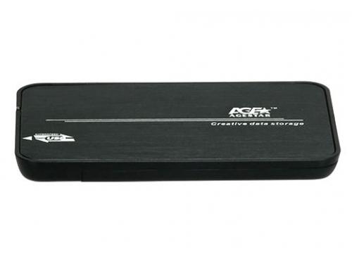 Корпус для жесткого диска AgeStar 31UB2A8C (2.5'', SATA - microUSB3.1с), чёрный, вид 2